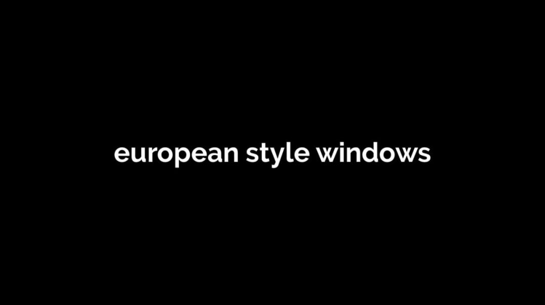 european windows vs american