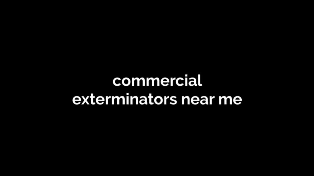 commercial exterminators near me